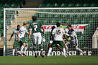 Photo: Lee Earle.<br /> Plymouth Argyle v Norwich City. Coca Cola Championship. 23/09/2006. Norwich's Gary Doherty (2ndL) turns the ball into his own net for Argyle's opening goal.