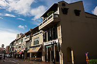 Shophouses near the waterfront in Singapore.