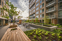 Exterior image of First Residences Apartments in Washington DC by Jeffrey Sauers of Commercial Photographics, Architectural Photo Artistry in Washington DC, Virginia to Florida and PA to New England