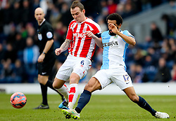 Stoke City's Glenn Whelan and Lee Williamson of Blackburn Rovers   -  Photo mandatory by-line: Matt McNulty/JMP - Mobile: 07966 386802 - 14/02/2015 - SPORT - Football - Blackburn - Ewood Park - Blackburn Rovers v Stoke City - FA Cup - Fifth Round