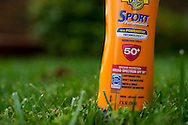 Sun Block with UVA/UVB Protection. SPF 50+<br /> sunscreen lotion with water and sweat resistance.