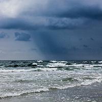 A brewing storm over  Guiones Beach, Nosara, Costa Rica.