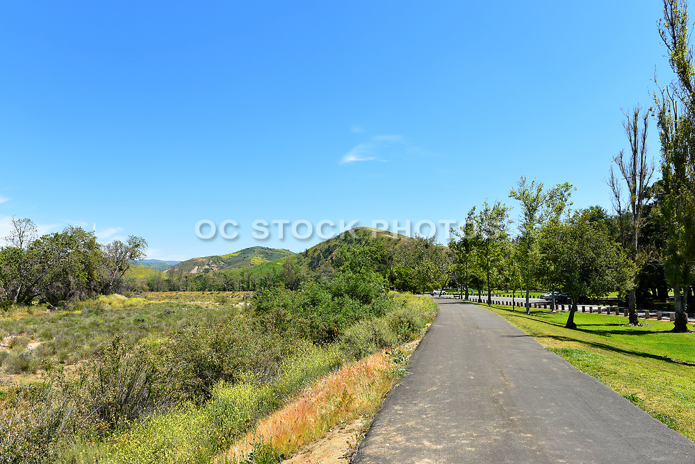 Bicycle Trail at Irvine Regional Park in Orange County, California