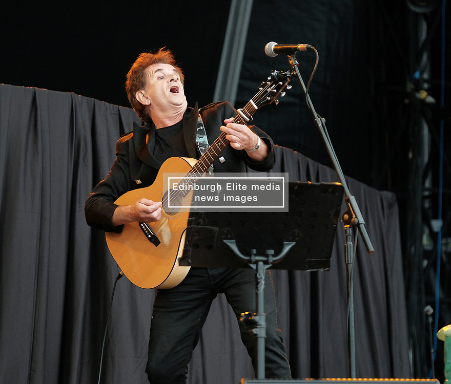 RUNRIG - THE LAST DANCE - FINAL FAREWELL CONCERT, Stirling, Saturday,18th August 2018<br /> <br /> Veteran Scottish rockers Runrig played their farewell concert tonight to mark their retirement after 45 years in the music business.<br /> <br /> The current line-up features Rory Macdonald (Bass), Calum Macdonald (Percussion), Iain Bayne (Drums), Malcolm Jones (Guitar), Brian Hurren (Keyboard) and Bruce Guthro (Lead Singer)<br /> <br /> They were supported by former member Donnie Munro and Julie Fowlis<br /> <br /> Pictured:  Donnie Munro<br /> <br /> <br /> (c) Alex Todd   Edinburgh Elite media