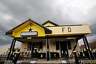 Fats Domino house in the Lower 9th Ward of New Orleans.