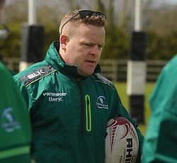 Gavin Foley Head Coach Connacht junior&rsquo;s before the interprovincial clash against Leinster at the Green Ballinrobe on saturday last.<br /> Pic Conor McKeown