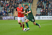 Matthew Kennedy (16) of Plymouth Argyle on the attack during the EFL Sky Bet League 2 match between Plymouth Argyle and Morecambe at Home Park, Plymouth, England on 18 March 2017. Photo by Graham Hunt.