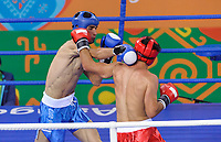 Ashgabat 2017 - 5th Asian Indoor & MartialArts Games 24-09-2017. Kickboxing - Tianhao Feng (CHN) v Dawran Rajabi (AFG) - Mens LK 63.5Kg division