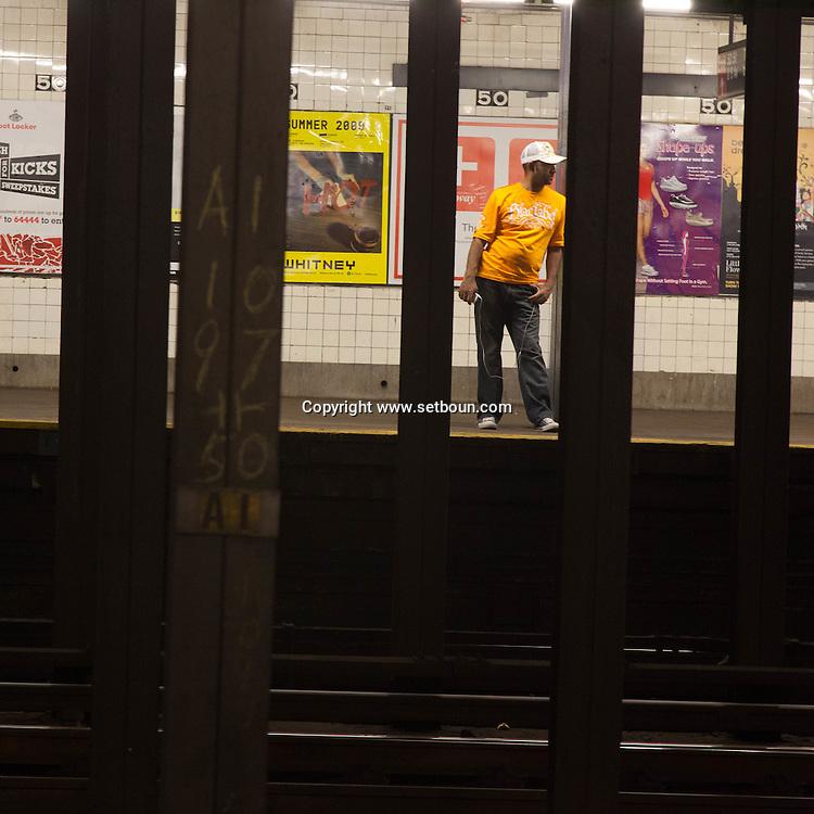 New York  subway on 50th street  New York - United States  / Metro  de la 50 em rue New York Manhattan - Etats unis