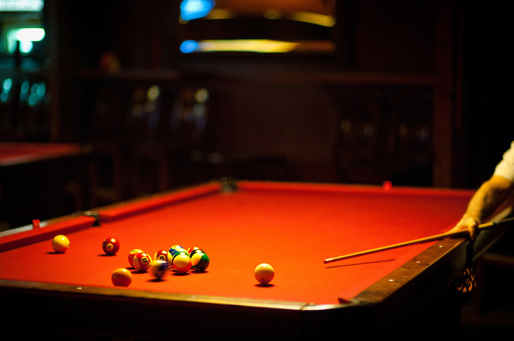 2011 December 06 - Pool table, Fremont area, Seattle, WA, USA. Photo by Richard Walker