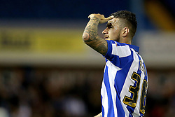Daniel Pudil of Sheffield Wednesday looks for someone in the crowd - Mandatory by-line: Robbie Stephenson/JMP - 13/05/2016 - FOOTBALL - Hillsborough - Sheffield, England - Sheffield Wednesday v Brighton and Hove Albion - Sky Bet Championship Play-off Semi Final first leg