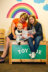Pictured: visitors Charlene Stewart (33), Abi-Kate Seymour (9) and Stewart Seymour (1)<br /> A new booklet was created by a group of prisoners after a Meet the Police event revealed many prisoners' children thought the police had taken their parent from them. The leaflet was launched by Mark McDonald, MSP, Minister for Childcare and Early Years at Saughton Prison, Edinburgh. The minister was joined by Scottish Prison Service chief executive Colin McConnell, PC  Tracey Gunn, Prison Link Officer Police Scotland, Nicola Ceesay, HMP Edinburgh Visitot Centre  Richard Thomas, Superintendent Police Scotland and other senior police officers<br /> <br /> <br /> Ger Harley | EEm 22 August 2016