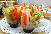 Cut vegetable snacks
