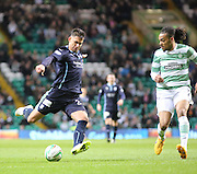 Celtic&rsquo;s Jason Denayer can't stop Dundee's Luka Tankulic getting in a shot -  Celtic v Dundee - SPFL Premiership at Celtic Park<br /> <br /> <br />  - &copy; David Young - www.davidyoungphoto.co.uk - email: davidyoungphoto@gmail.com