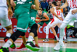 during ABA basketball league round 9 match between teams KK Cedevita Olimpija and KK Crvena Zvezda MTS in Arena Stozice, 1. December, Ljubljana, Slovenia. Photo by Grega Valancic / Sportida