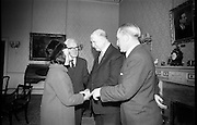 16/12/1965<br /> 12/16/1965<br /> 16 December 1965 <br /> <br /> Mr. Sean Flanagan T.D. Recived by President Éamon de Valera
