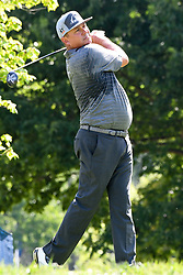 August 9, 2018 - St. Louis, Missouri, United States - Jason Dufner tees off during the first round of the 100th PGA Championship at Bellerive Country Club. (Credit Image: © Debby Wong via ZUMA Wire)