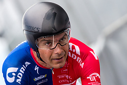 Jure Golcer of Adria Mobil Cycling Team during 5th Time Trial Stage of 25th Tour de Slovenie 2018 cycling race between Trebnje and Novo mesto (25,5 km), on June 17, 2018 in  Slovenia. Photo by Matic Klansek Velej / Sportida