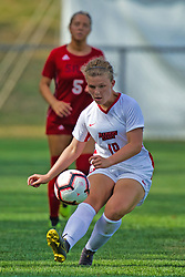 NORMAL, IL - August 10:  Maria Haro during a nonconference exhibition women's soccer match between the Southern Illinois Edwardsville Cougars and the Illinois State Redbirds August 10 2019 on Adelaide Street Field in Normal IL (Photo by Alan Look)