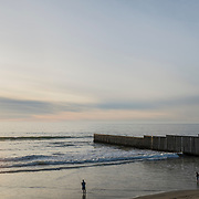Playas de Tijuana. The beginning of the infamous wall between Mexico and United States of America, that starts in the Pacific Ocean and goes all the way for more than 1,000 km until Ciudad Juarez / El Paso border, in Texas