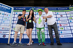 Janko Hrovat, Manja Dobrilovic, Aleksander Javornik and Dare Rupar at trophy ceremony during 3rd Stage of 26th Tour of Slovenia 2019 cycling race between Zalec and Idrija (169,8 km), on June 21, 2019 in Slovenia. Photo by Matic Klansek Velej / Sportida