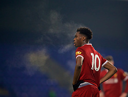 BIRKENHEAD, ENGLAND - Tuesday, December 19, 2017: Liverpool's Oviemuno Ovie Ejaria during the Under-23 FA Premier League International Cup Group A match between Liverpool and PSV Eindhoven at Prenton Park. (Pic by David Rawcliffe/Propaganda)
