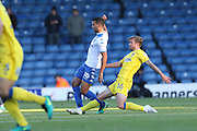 AFC Wimbledon midfielder Tom Beere (16) battles for possession during The Emirates FA Cup 1st Round match between Bury and AFC Wimbledon at the JD Stadium, Bury, England on 5 November 2016. Photo by Stuart Butcher.
