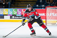KELOWNA, CANADA - OCTOBER 31: Joe Gatenby #28 of Kelowna Rockets skates against the Lethbridge Hurricanes on October 31, 2015 at Prospera Place in Kelowna, British Columbia, Canada.  (Photo by Marissa Baecker/Shoot the Breeze)  *** Local Caption *** Joe Gatenby;