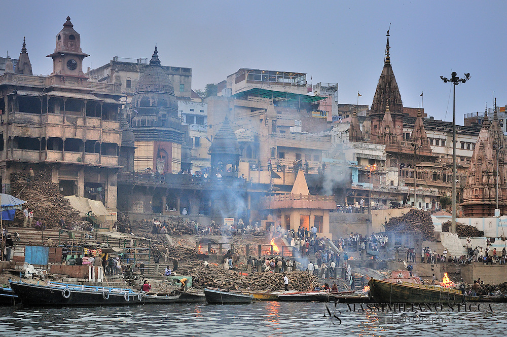 Manikarnika Ghat has a great significance not only in Hindu mythology and way of life but also in the philosophies of life and death. <br /> The ghat is historically associated with the Hindu God named Lord Vishnu and Lord Shiva. <br /> Here dead bodies are brought with joy and fervor with bands, drums and  trumpets in a procession with the shouts of words RAM NAAM SATYA HAI chorused by everyone in the group. It is considered that the one who is cremated at this ghat will attain Moksha, the salvation and get directly intermingled into the Lord Shiva.