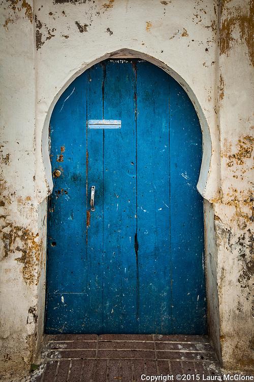 Blue Simple Moroccan Doorway, Morocco