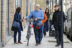 © Licensed to London News Pictures. 04/01/2020. London, UK. Leader of Labour Party, JEREMY CORBYN (C) leaves after visiting the crime scene in Finsbury Park. Police launch a murder investigation following a death of a man in his 30s on Friday 3 January 2020. Police were called at approximately 6.50pm to reports of a man stabbed and the he was pronounced dead at the scene just after 7.30pm.  Photo credit: Dinendra Haria/LNP
