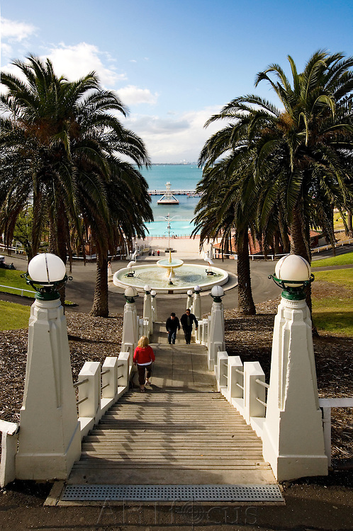 steps to Eastern Beach in Geelong