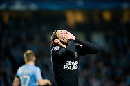 25.11.2015. Malm&ouml;, Sweden. <br /> Edinson Cavani of Paris reacts during their UEFA Champions League match against Malm&ouml; FF at the Malm&ouml; New Stadium. <br /> Photo: &copy; Ricardo Ramirez.