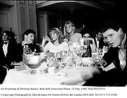 Ali Wauchope & Christian Rucker. Rose Ball. Grosvenor House. 19 May 1988. Film 88392f10<br />