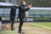 Forest Green Rovers assistant manager, Scott Lindsey during the EFL Sky Bet League 2 match between Forest Green Rovers and Cambridge United at the New Lawn, Forest Green, United Kingdom on 20 January 2018. Photo by Shane Healey.
