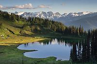 Image Lake seen from Miner's Ridge, Glacier Peak Wilderness North Cascades Washington.