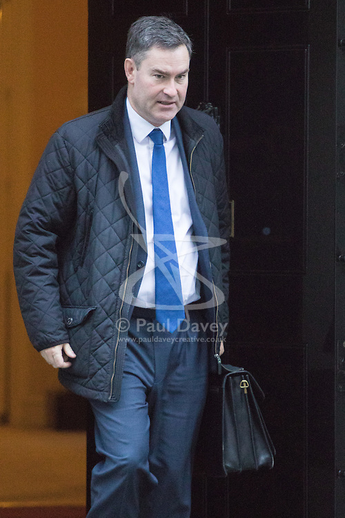 Downing Street, London, November 29th 2016. Chief Secretary to the Treasury David Gauke leaves 10 Downing Street following the weekly cabinet meeting.