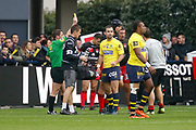 Yellow card Francois Van Der Merwe to LOU during the French championship Top 14 Rugby Union match between ASM Clermont and Lyon OU on November 18, 2017 at Marcel Michelin stadium in Clermont-Ferrand, France - Photo Romain Biard / Isports / ProSportsImages / DPPI