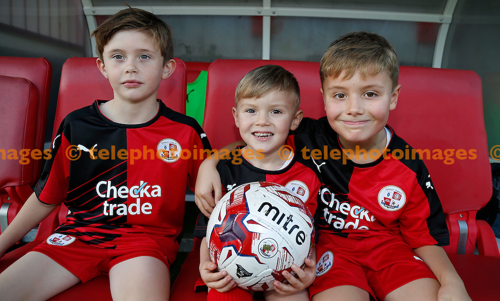 Mascots seen during the Sky Bet League 2 match between Crawley Town and York City at the Checkatrade.com Stadium in Crawley. October 31, 2015.<br /> James Boardman / Telephoto Images<br /> +44 7967 642437