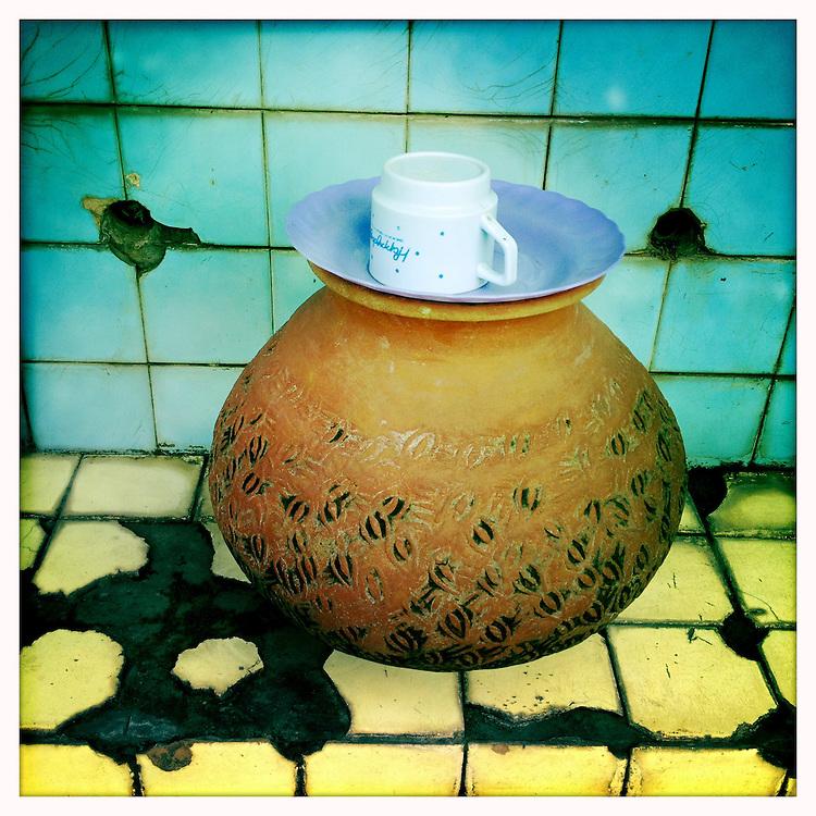 Water for the public, near the Shwedagon Paya - Yangon (Rangoon) Myanmar (Burma) January 2012