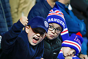 Rangers fans enjoying their European experience during the Europa League match between Rangers and SK Rapid Wien at Ibrox, Glasgow, Scotland on 4 October 2018.