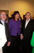 Janet Street-Porter, Private view of 40 limited edition prints especially created by Howard Hodgkin for Elton John AIDS Foundation, Alan Christea Gallery, 6 February 2003. All proceeds from the evening benefit Elton John AIDS Foundation.© Copyright Photograph by Dafydd Jones 66 Stockwell Park Rd. London SW9 0DA Tel 020 7733 0108 www.dafjones.com
