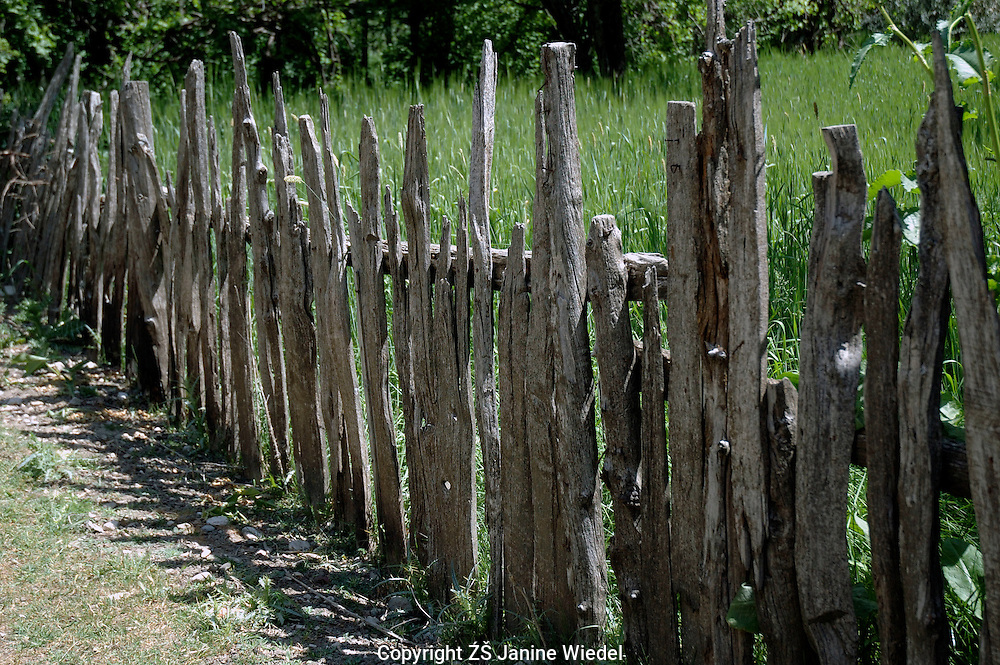 Rustic typical fence in local village of Bezirgan in Southern Turkey.