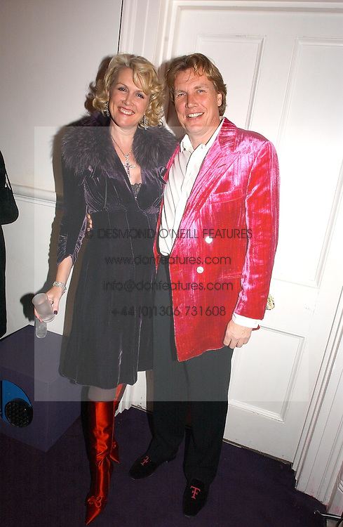 THEO &amp; LOUISE FENNELL at a party hosted by jeweller Theo Fennell and Dominique Heriard Dubreuil of Remy Martin fine Champagne Cognac entitles 'Hot Ice' held at 35 Belgrave Square, London, W1 on 26th October 2004.<br /><br />NON EXCLUSIVE - WORLD RIGHTS