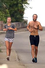 James Middleton goes for a jog