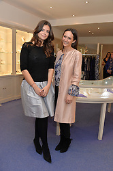 Left to right, LADY NATASHA RUFUS-ISAACS and LAVINIA BRENNAN at a preview of the latest collections by jewellery designer Kiki Mcdonough and fashion label Beulah held at Kiki McDonough Jewellery, 12 Symons Street, London on 5th March 2014.