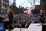 Barack Obama rallies a crowd of 14,000 in downtown Concord; Saturday, November 4, 2012. The President and former President Bill Clinton spoke on a stage set up in North State Street two days before the general election.