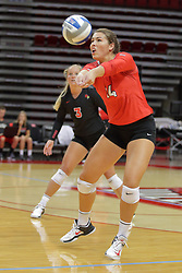 19 August 2017:  Lexi Wallen during a college women's volleyball match Scrimmage of the Illinois State Redbirds at Redbird Arena in Normal IL (Photo by Alan Look)
