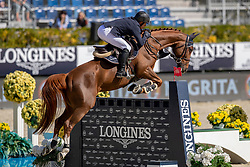 Robert Olivier, FRA, Tempo de Paban<br /> Longines FEI Jumping Nations Cup™ Final<br /> Barcelona 20128<br /> © Hippo Foto - Dirk Caremans<br /> 05/10/2018