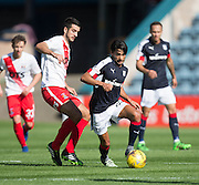 Dundee&rsquo;s Faissal El Bakhtaoui goes past Kilmarnock&rsquo;s Gary Dicker - Dundee v Kilmarnock in the Ladbrokes Scottish Premiership at Dens Park, Dundee. Photo: David Young<br /> <br />  - &copy; David Young - www.davidyoungphoto.co.uk - email: davidyoungphoto@gmail.com